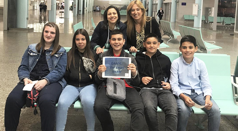Os Premiados Polo Programa Escola Cisco IT Rocks Viaxan A Madrid Para Presentar O Seu Proxecto.